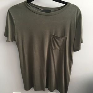 Green T-shirt with Pocket